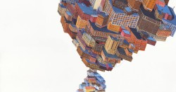 "Amy Casey ""Burden"" acrylic on paper, 22"" x 30"", 2015 courtesy Zg Gallery, Chicago"