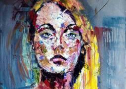 Chris Silver. Melancholy. Oil on Canvas. 30x30