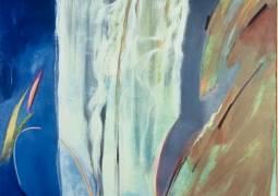 Oil on canvas image of Yosemite Falls