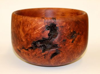 Maple Burl Bowl with Bark Inclusions by Phil Gautreau